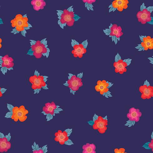 Nahtlose Blümchenmuster Blumen Hintergrund Gartenverzierung vektor