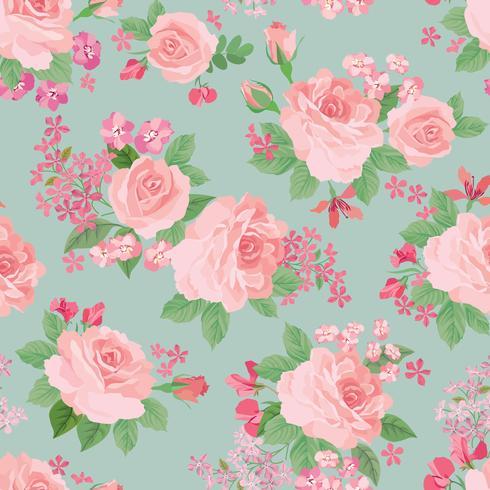 Blommigt sömlöst mönster. Blomma bakgrund. Trädgårdsstruktur vektor