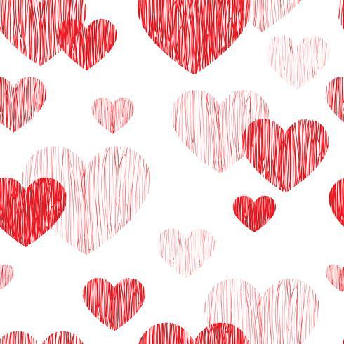 Kärlek hjärta sömlöst mönster. Lycklig Alla hjärtans dag bakgrund vektor