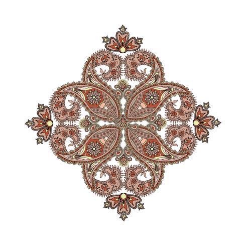 Arabisk prydnad bakgrund Orientalisk etnisk mandala amulett. vektor