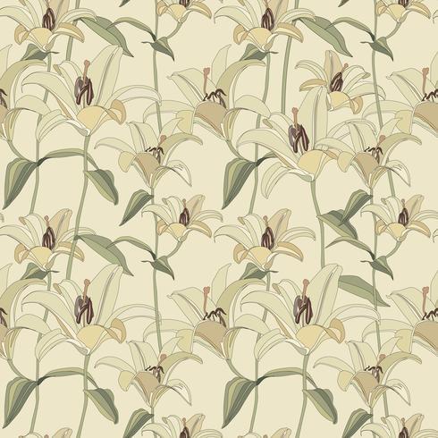 Blomönster. Blomma sömlös bakgrund. Blomstra prydnadsgardin vektor