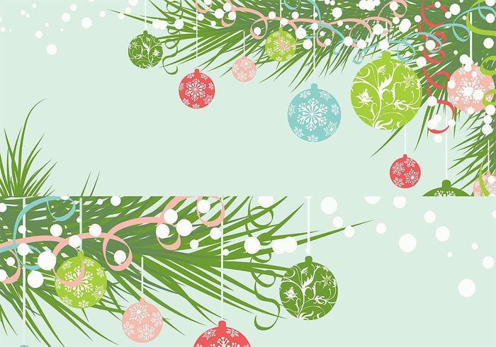 Weihnachtsverzierung Tapeten Vektor Pack