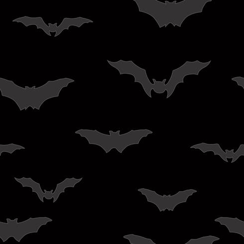 Halloween bat sömlöst mönster. Holiday Halloween bakgrund vektor