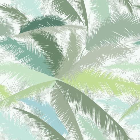 Blumenmuster. Palme verlässt. Sommer tropische nahtlose Textur vektor