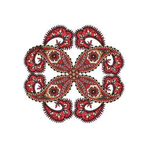 Orientalisches ethnisches Mandalaamulett des arabischen Verzierungshintergrundes. vektor