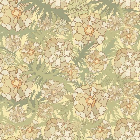Blumenmuster. Blumen, verlässt nahtlosen Hintergrund. Naturbeschaffenheit vektor