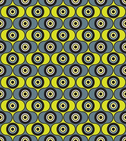 Sömlösa bakgrunds cirklar. Snygg geometrisk prydnad vektor