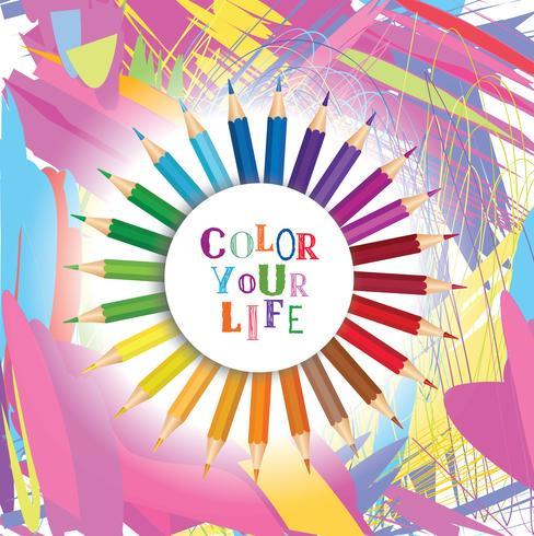 Färga ditt livs bakgrund. Inspirerande motivation citationstecken design vektor