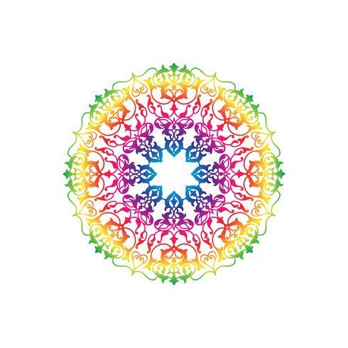 Dekoratives rundes Blumenmuster. Orientalische Blumenverzierung der Mandala vektor