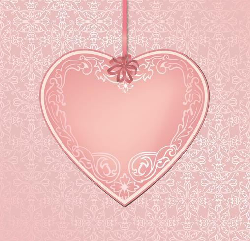 Kärlek hjärtan semester bakgrund hälsningskort. Romantisk datumram. vektor