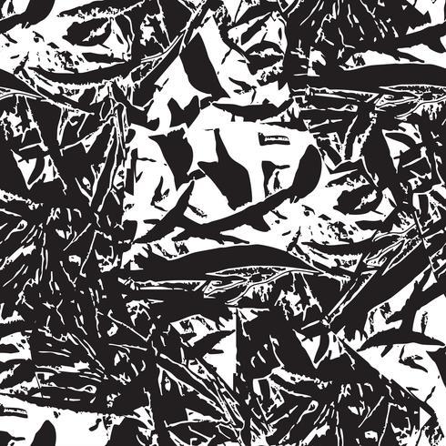 Abstrakt blommigt sömlöst mönster. Blad lövtextur vektor