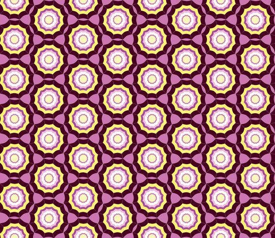 Geometrisk sömlös mönster. Abstrakt prydnad Swirl tyg bakgrund vektor