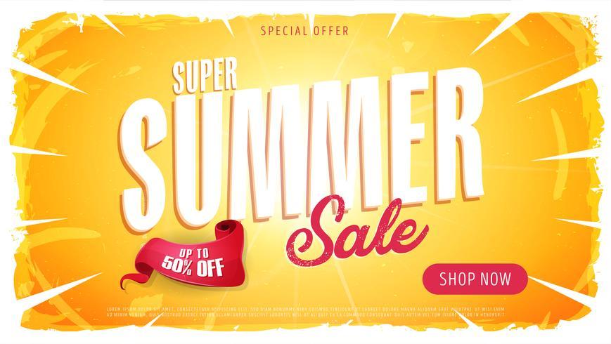sommarförsäljning mall banner vektor