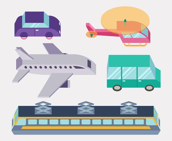Transport Clipart Set vektor