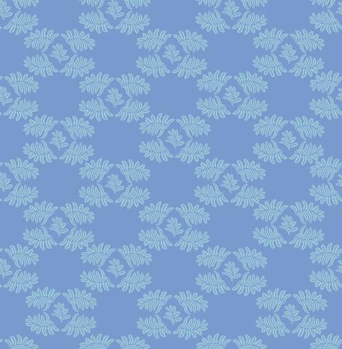 Blombladmönster. Sömlös bakgrund. Natur virvelblad prydnad vektor