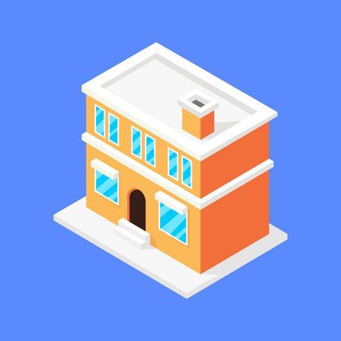 Fantastiskt isometriskt hus vektor