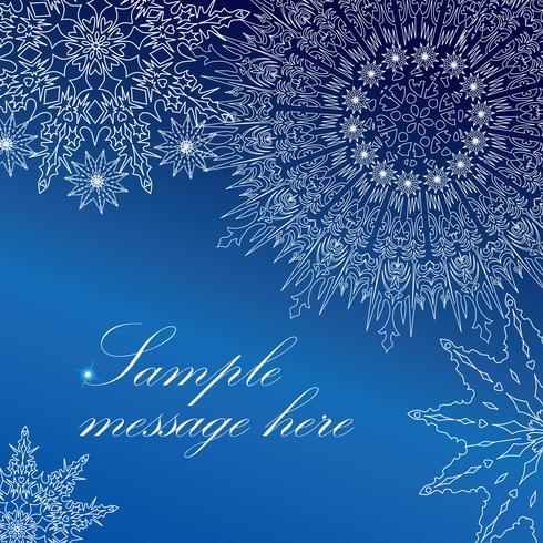 Snö hälsningskort mönster. Jul Vinter helgdag bakgrund vektor