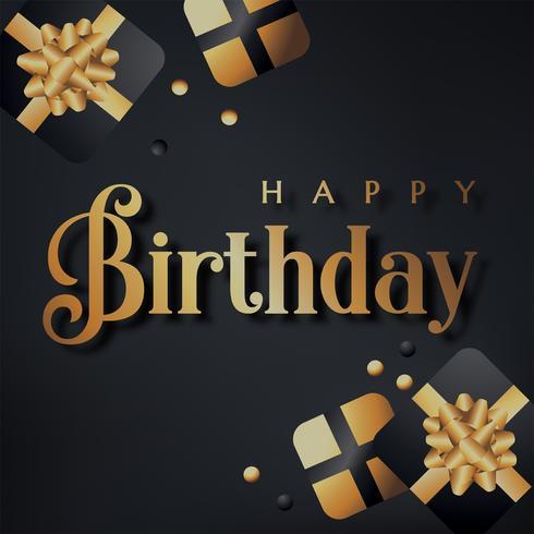 Alles Gute zum Geburtstag-Vektor-Design vektor