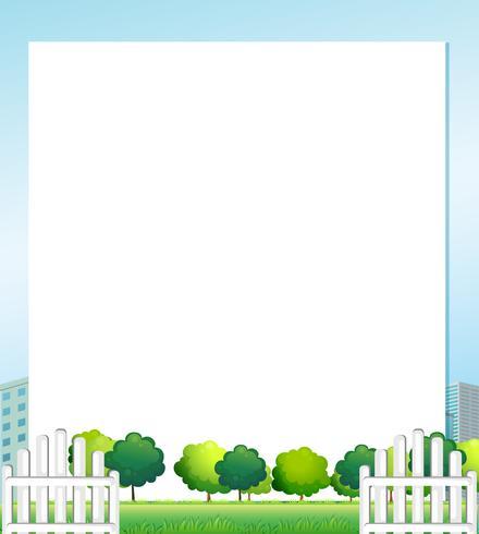Ein leeres Papier mit Bäumen an der Unterseite vektor