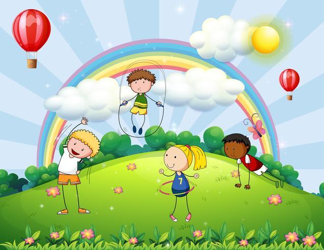 Barn och park vektor