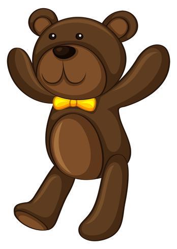 Brown-Teddybär betreffen weißen Hintergrund vektor