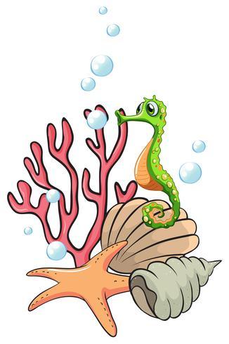Kreaturen unter dem Meer vektor