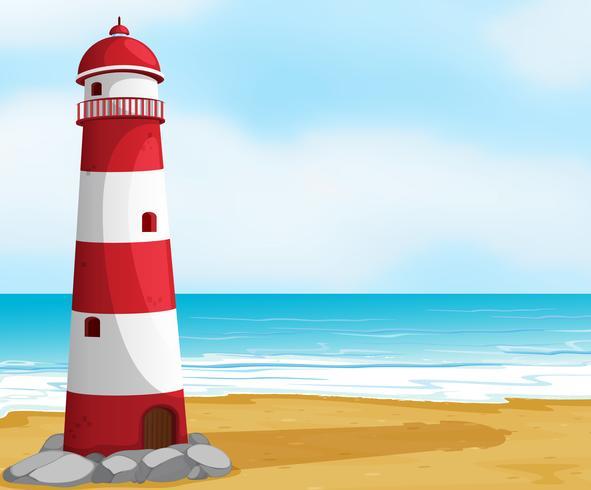 Meer und Leuchtturm vektor