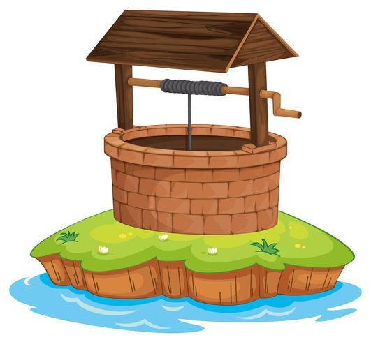 ein Brunnen und Wasser vektor