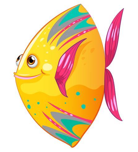 Ein großer bunter Fisch vektor