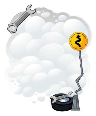 Hintergrunddesign mit Schlüssel und Rauch vektor