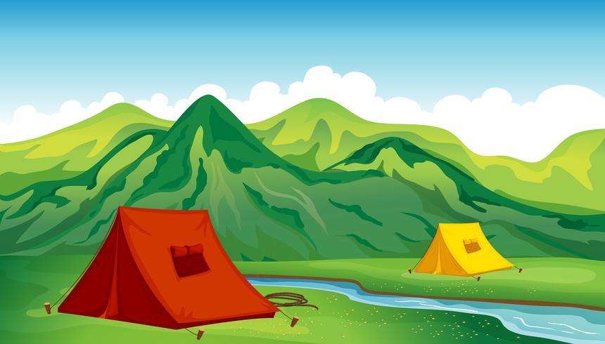 Ein Campingplatz vektor