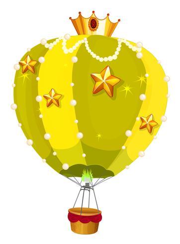 Ballons mit goldenen Sternen vektor