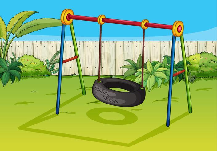 Ein schwingender Reifen vektor