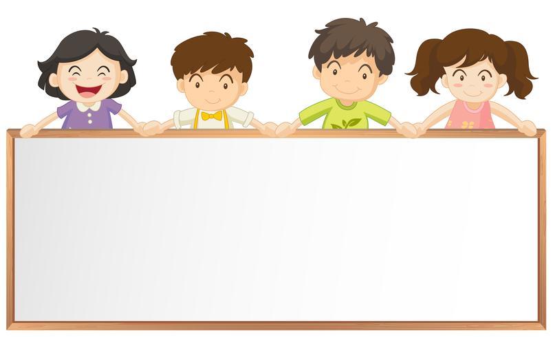 Rahmenvorlage mit vielen Kindern vektor