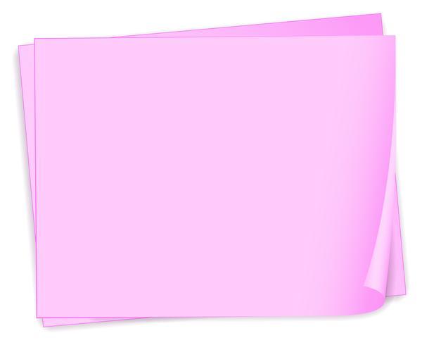 Leere rosa Papiere vektor
