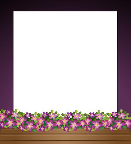 Eine leere Papierschablone mit einem Garten an der Unterseite vektor