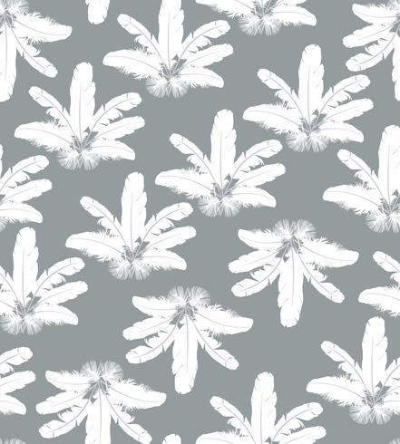 Fjädermönster. Vita fjädrar på grå bakgrund. naturlig kudde sömlös textur. vektor