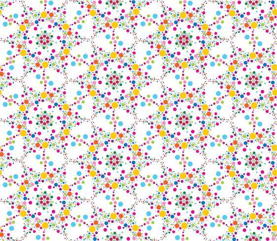 Abstrakt prickblomma sömlös textur. Snyggt kakelmönster vektor
