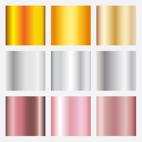 Guldrosa, brons och silver texturgraderingsbakgrund. vektor