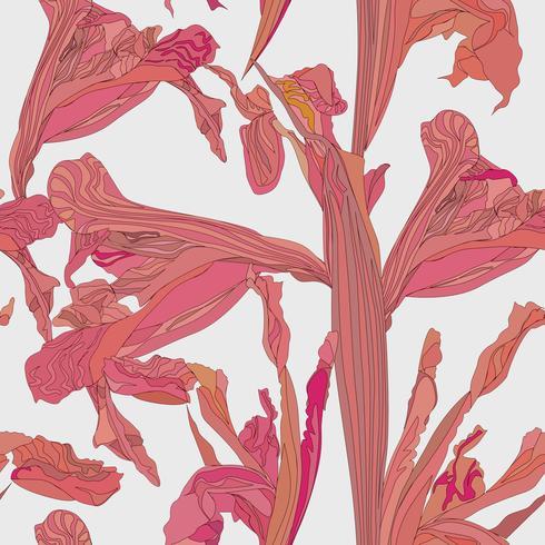 Nahtlose Blümchenmuster Blumenstrudelhintergrund. vektor