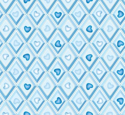 Herzmuster. es ist ein Junge nahtlose Muster. Rautenmuster. vektor