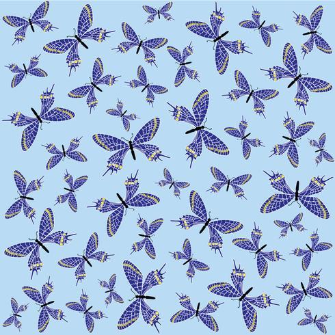 Butterfly sömlös mönster. Sommarlov djurliv bakgrund. vektor