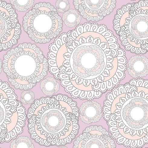 Abstrakt blommigt prydnadsmönster. Geometrisk prydnad sömlös vektor