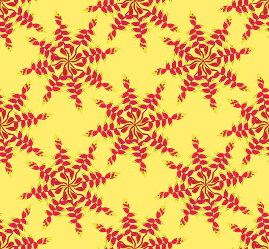 Abstraktes ethnisches mit Blumenmuster. Geometrische Blumenverzierung. vektor