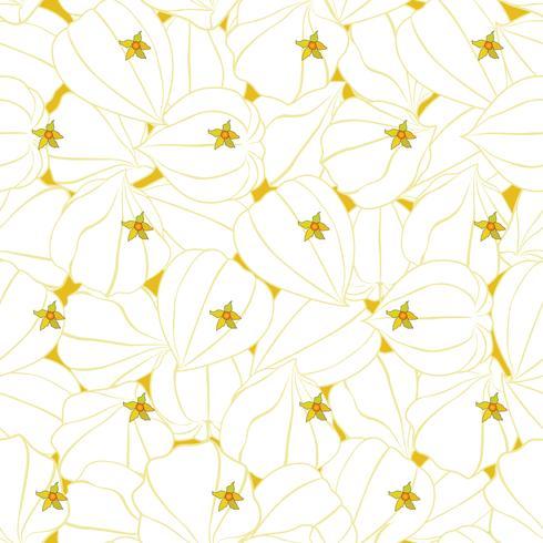 Abstrakt blommigt sömlöst mönster. Vinter körsbärs prydnad vektor