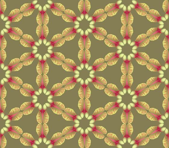 Abstrakt blommig etnisk mönster. Geometrisk prydnad. vektor