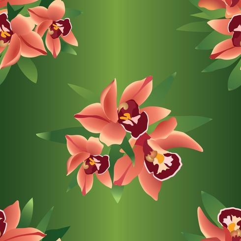 Floral nahtlosen Hintergrund. Blume ohrid Hintergrund vektor