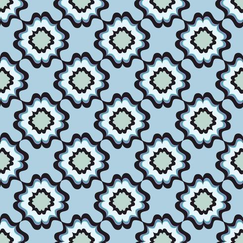 Seamless blommönster. Abstrakt blommig prydnad. Orientalisk textur vektor