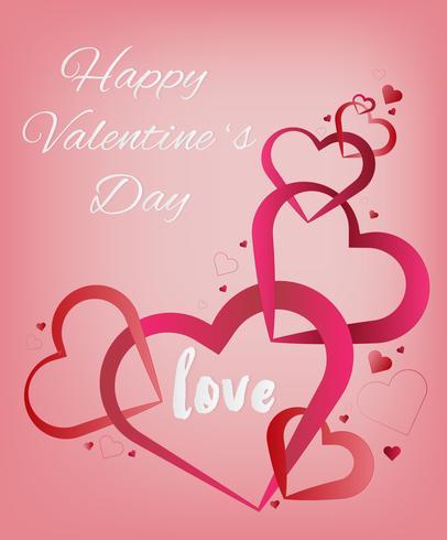 Valentins hjärta. Dekorativt hjärta bakgrund med valentines hjärtan. koncept kärlek och valentin dag, papper konst stil. vektor