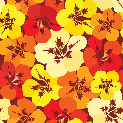 Abstrakt blommigt kakelmönster. Trädgårdsblomma bakgrund vektor